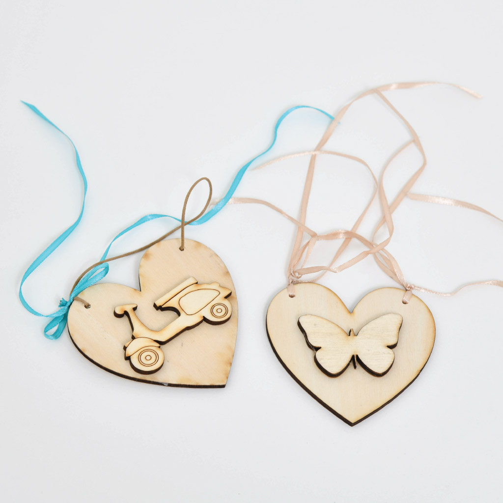 Wooden hanging for Christening